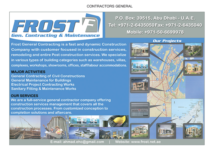 Frost General Contracting & Maintenance, Abu Dhabi