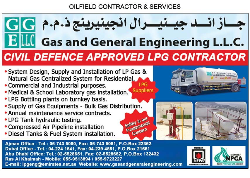 Gas & General Engineering L L C , Ajman | National Pink