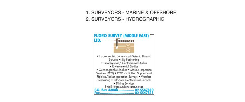 Fugro Survey (Middle East) Ltd , Abu Dhabi | National Pink Pages