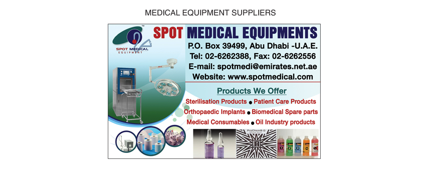 Spot Medical Equipment LLC, Abu Dhabi | National Pink Pages