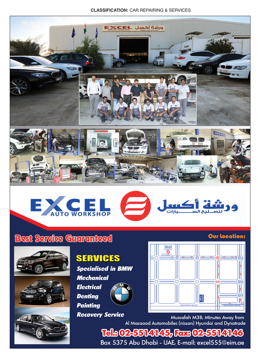 Excel Auto Workshop, Abu Dhabi | National Pink Pages