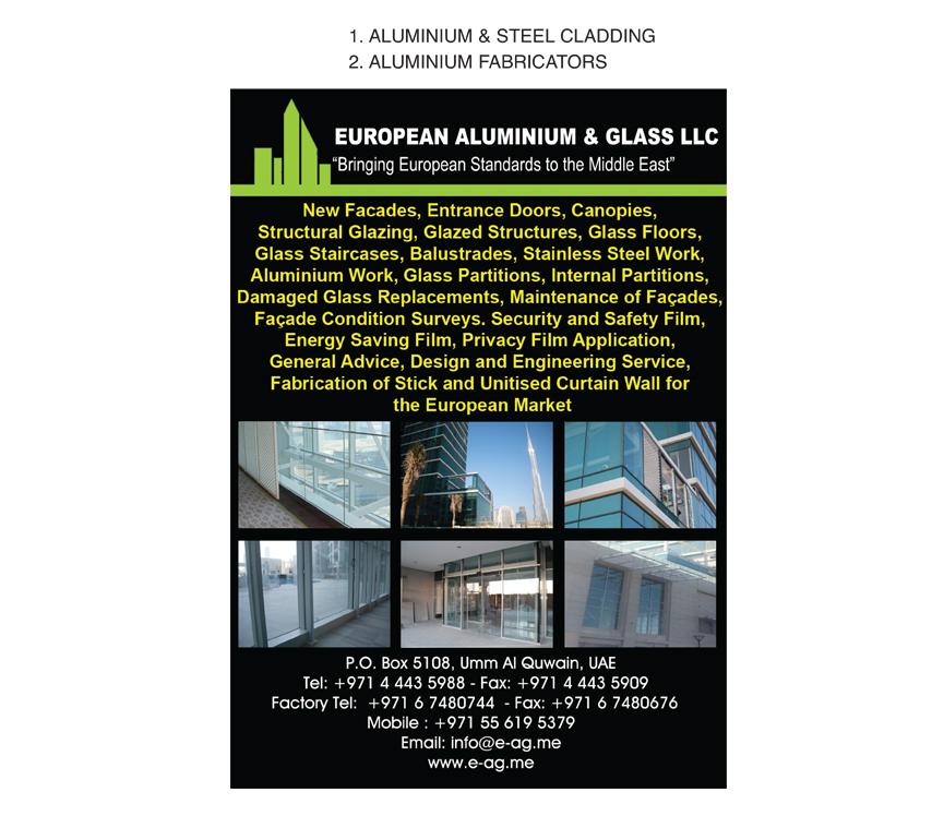 European Aluminium & Glass LLC, Umm al-Quwain | National Pink Pages