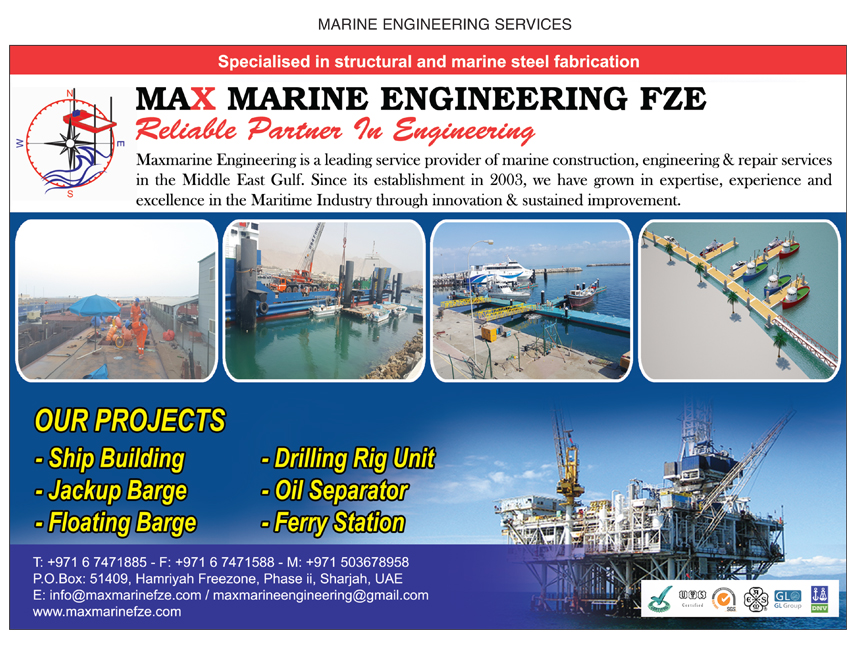 Max Marine Engineering FZE, Sharjah | National Pink Pages