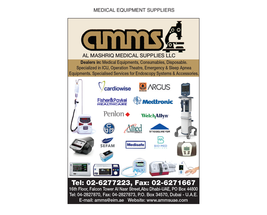 Al Mashriq Medical Supplies L L C, Abu Dhabi | National Pink Pages